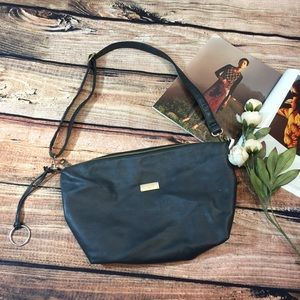 {BCBG Paris} Navy leather crossbody